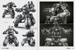 Art of Fo4 sentry bot concept art