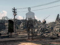 FO3 Stealth Boy in use