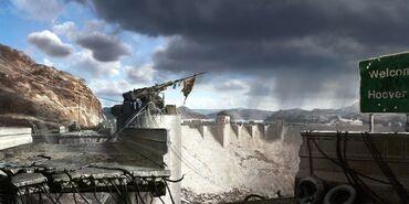 FNV concept art Hoover Dam