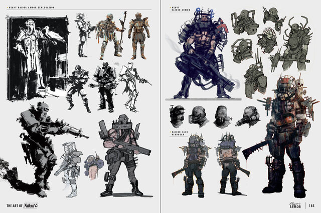File:Art of Fo4 raider armor concept art.jpg