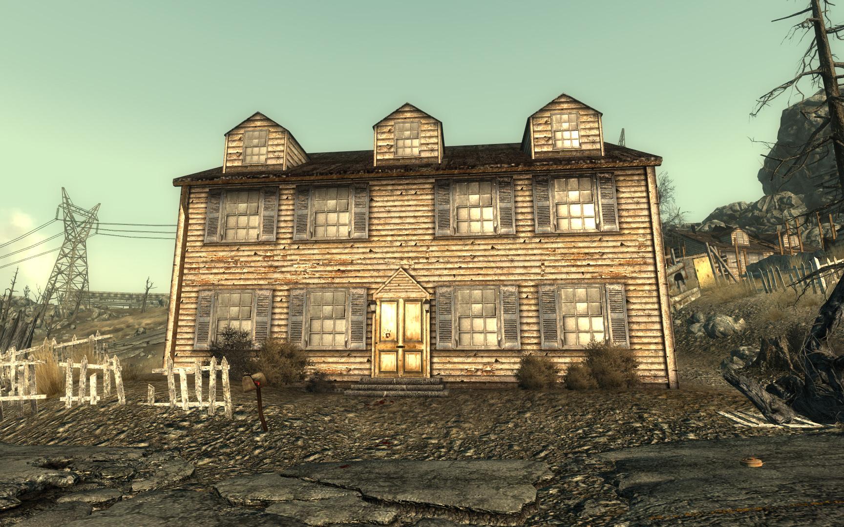 Minefield model house