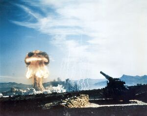 Nuclear artillery test Grable Event - Part of Operation Upshot-Knothole
