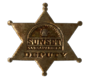 Sunset Sarsaparilla deputy badge