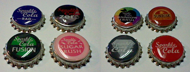 Bottlecaps by lcponymerch