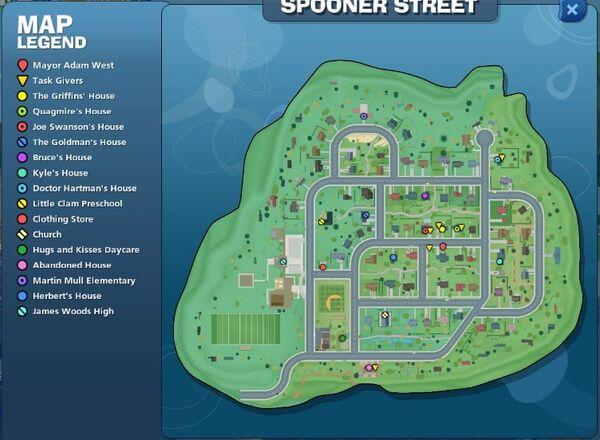 Spooner Street Map