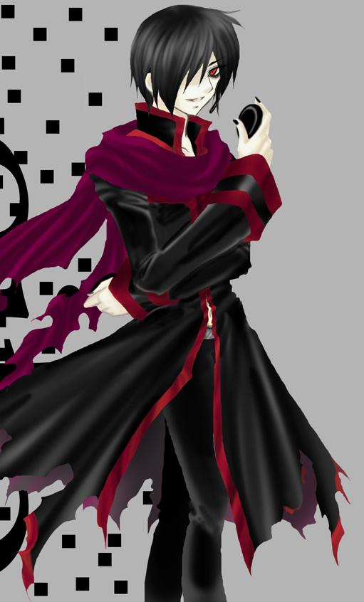 Vocaloid Zeito Zeito is a black and red