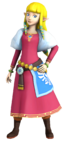 Skyward sword style zelda 3d render by blitzplum-d675a86