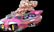 Pink Gold Peach Mario Kart