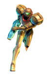 Transparent Samus Varia Corruption Render