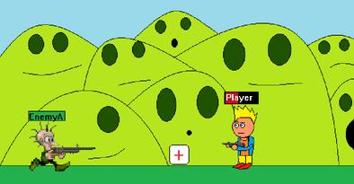 Golden Hero battle gameplay