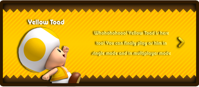 Super Mario & the Ludu Tree - Character Yellow Toad