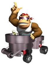 File:Funky Kong Mario Kart 8 Wii U Artwork.png
