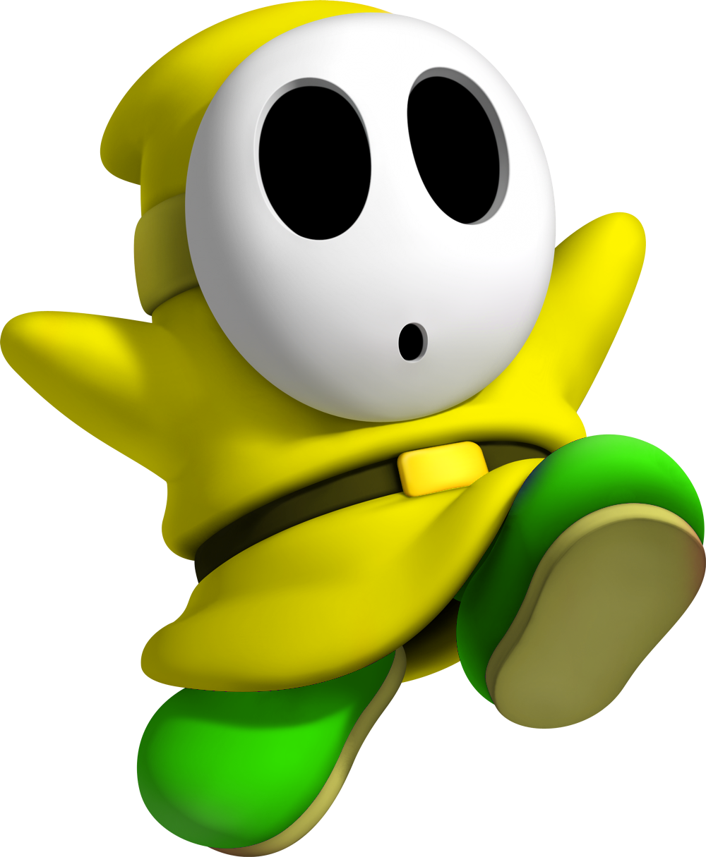 Image yellow shy fantendo nintendo fanon for Shy guy coloring pages