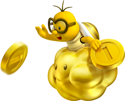 Golden Lakitu Artwork - New Super Mario Bros. 2