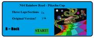 N64 rainbow road selection screen