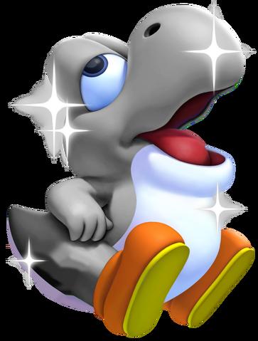 File:Silver Baby Yoshi.png