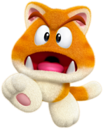 Cat Goomba Artwork - Super Mario 3D World