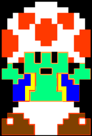 File:8-Bit Toad (Modern Style).png