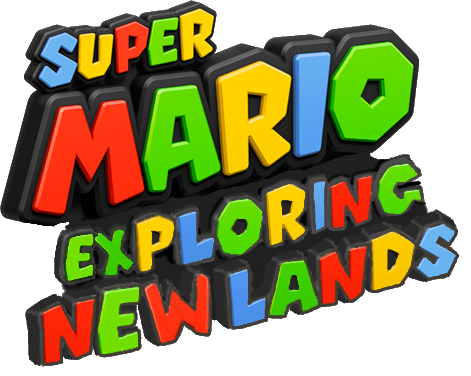 File:Super Mario Exploring New Lands Logo.png