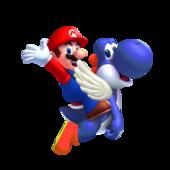 Blue Yoshi Mario SMW3D