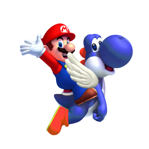 File:Blue Yoshi Mario SMW3D.png