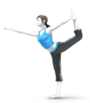 Wii fit trainerin