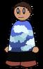 Shirt Blue Clouds Generic
