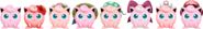 SSBRiot Jigglypuff Color Palettes