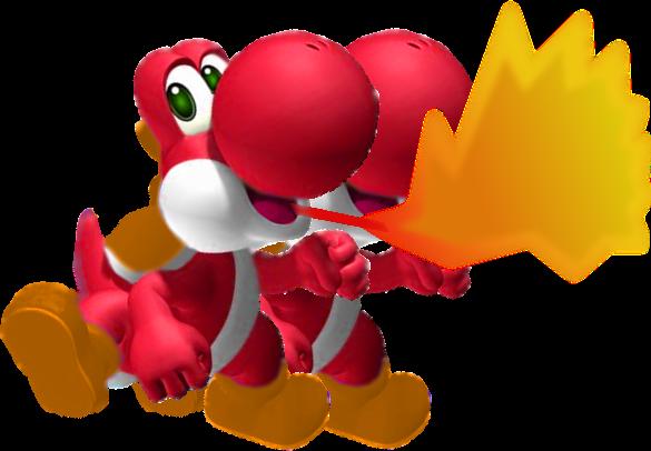 File:Fire Yoshi!!!!.png