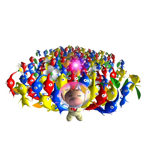 File:Captain Olimar & Pikmin.png