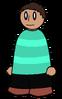Shirt Cyan Striped Generic
