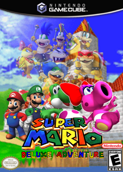 Super Mario Deluxe Adventure- Front Cover