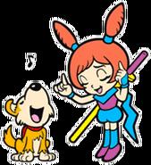 Ana and Shadow WarioWare Mega Microgames