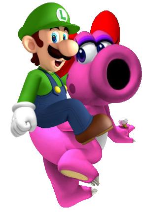 File:Luigi riding Birdo.png