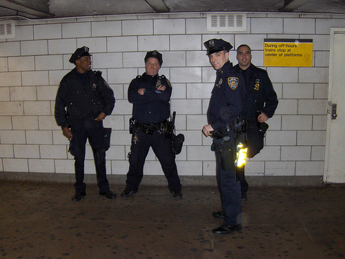 File:Policemen At West 4th Station.jpg
