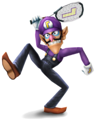 Waluigi Artwork - Super Smash Bros. Brawl