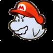 Paper Boo Mario