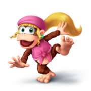 Dixie kong smashified transparent by sean the artist-d9bcj5s