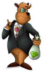 Spyro collab moneybags by turquoisephoenix-d4b92mp