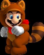 Tanooki Mario with handkerchief