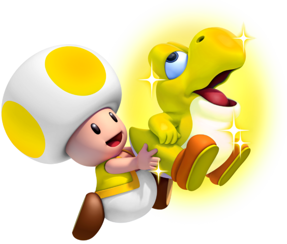File:Glowing Baby Yoshi Mario game.png