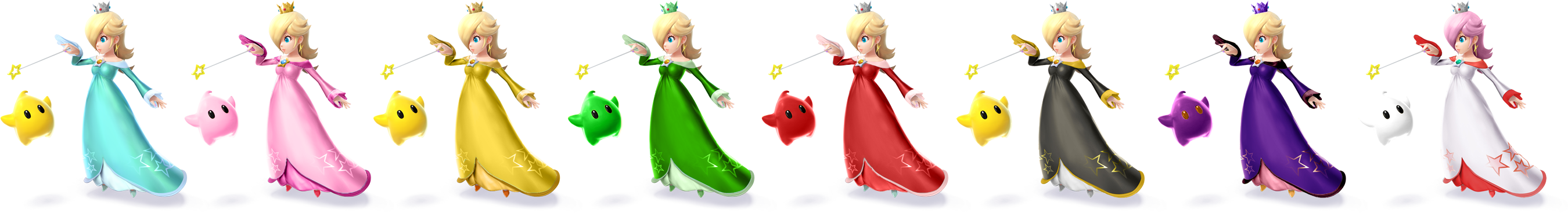 ssbriot rosalina color palettes - Rosalina Peach Coloring Pages