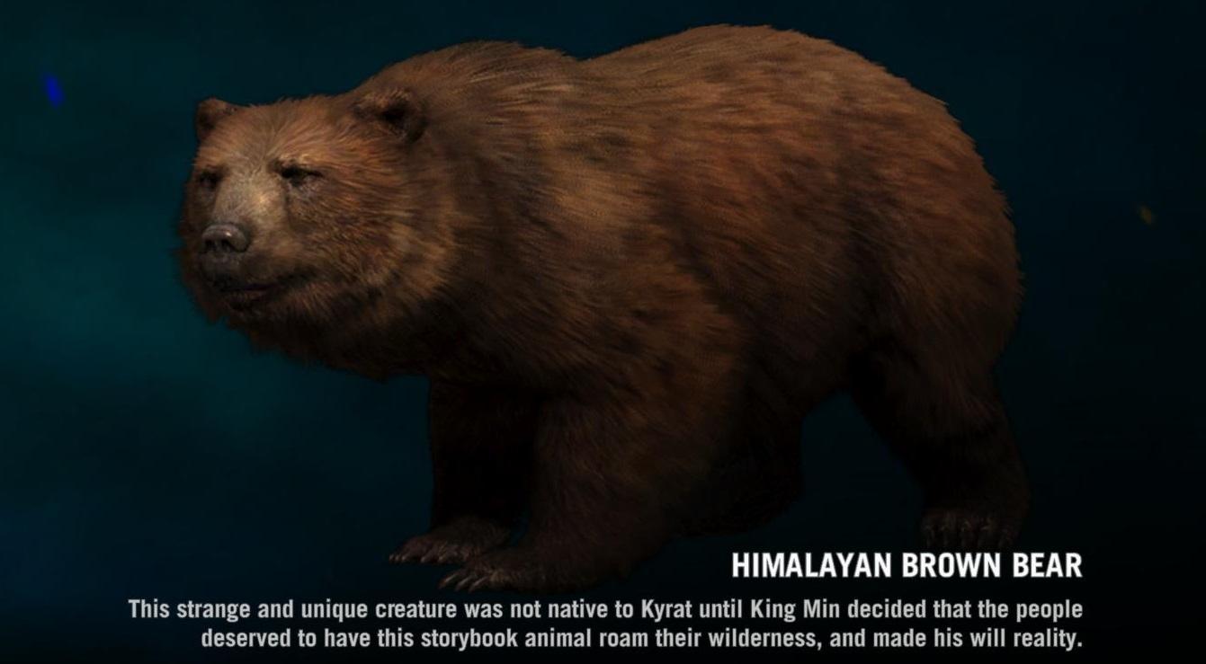 Far Cry 4:asian rhino vs yeti vs himalayan brown bear ... Himalayan Brown Bear Yeti