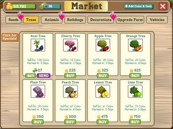 Exemplu de pomi la Cumpărături.