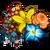 Big Fall Ribbon Flower Tree-icon