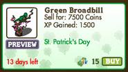 Green Broadbill Market-info