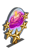 Rose Flame Candle 5 Star Mastery Sign-icon