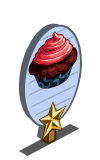 Strawberry Licorice Cupcake 1 Star Mastery Sign-icon