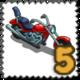 Cruise Bike Stamp-icon