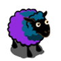 Blue Violet Sheep